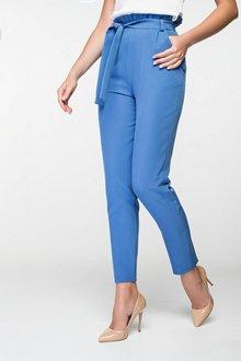 Голубые офисные брюки 4052
