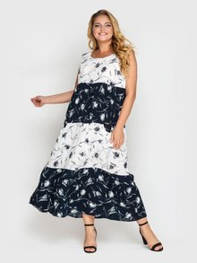 Платье Тала сине-белое 128410