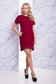 Платье Шафран (темно-бордовый)