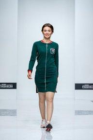 Платье Американо (темно-зеленый)