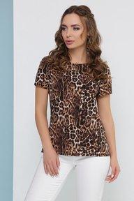 Блуза 1827 коричневый