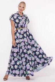 Платье Алена Гортензия синее 1143246