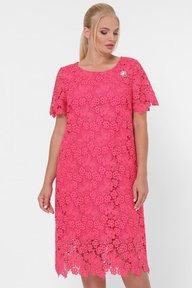 Платье кружевное Элен коралл 124082