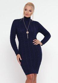 Платье косы синий 353205