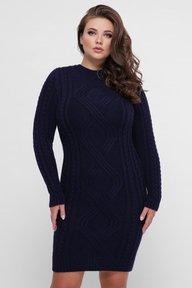 Платье орнамент синий 353307