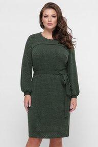 Платье вязаное Эмили зеленое 126205