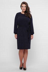 Платье вязаное Эмили синее 126201