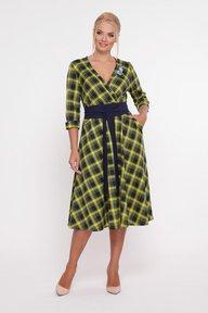 Платье расклешенное Луиза горчица 1215161