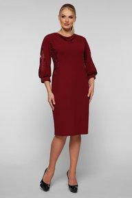 Коктейльное платье Сандра бордо 126501