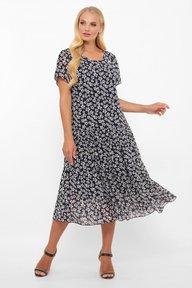 Платье Катаисс синий мелкие цветы 1193218