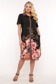 Платье-рубашка Сати цветы 1187276