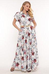 Платье Алена белое 114313