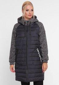 Женская демисезонная куртка Амалия черная 402501