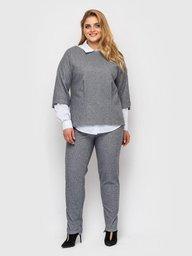 Брючный костюм Эльвира светло-серый 130503