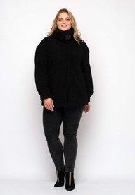 Куртка короткая Энджи экомех черная 130301