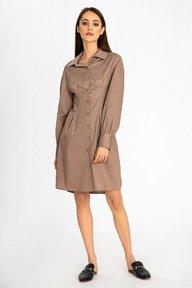 Платье-рубашка цвета мокко Аурика 51248