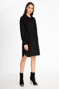 Платье-рубашка черного цвета Камалия 51249