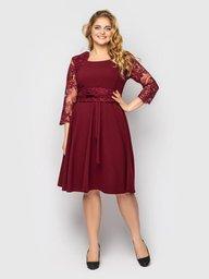 Платье нарядное Кэрол бордо 130803