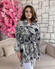 Рубашка-кардиган Оверсайз пальмы 018_285905