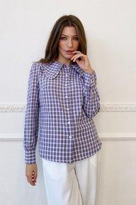 Сиреневая рубашка с крупным воротником Эвелин 21265