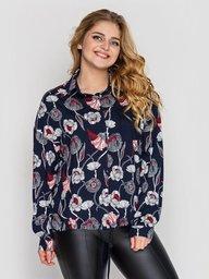 Рубашка женская Китти синяя 127610