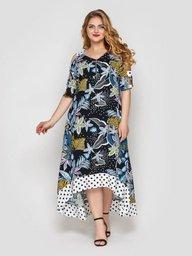 Платье Тропикана черное 120615