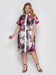 Платье-рубашка Сати акварель 118755