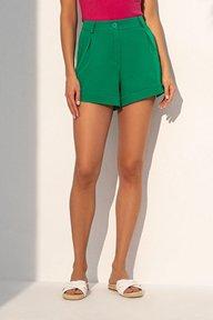 Летние шорты зеленого цвета 4223