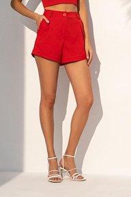Летние шорты красного цвета 4224