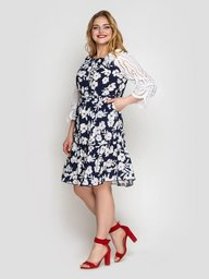 Платье летне Матильда синее 133102