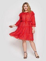 Летнее платье Валенсия коралл 133201