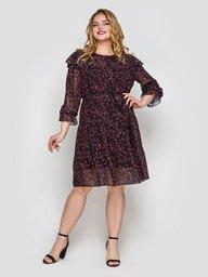 Летнее платье Валенсия черное 133203