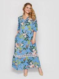 Платье женское Лиза голубое 132701