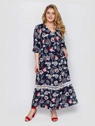 Платье женское Лиза синее 132702
