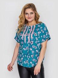 Блуза женская Роял бирюза 132302