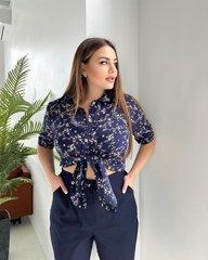 Блуза Тиффани темно-синий 018_288388