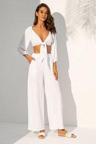 Летний костюм с брюками и топом на завязках белого цвета Кьяра 3140 3142