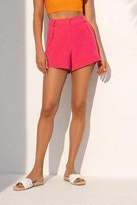 Летние шорты малинового цвета 4240