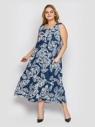 Платье Тала деним 128455
