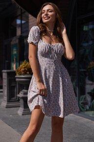Платье Кения М21 красно-голубой 011