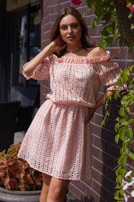 Платье Шарм М21 персик 011