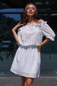 Платье Шарм М21 белый 011