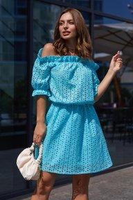 Платье Шарм М21 голубой 011