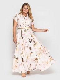 Платье Алена пудра 114319