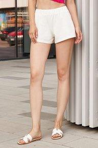Летние короткие шорты молочного оттенка Эмили 4242
