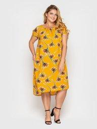 Платье летнее женское Палитра горчица 124428