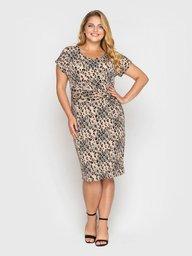 Платье Белла леопард 120408