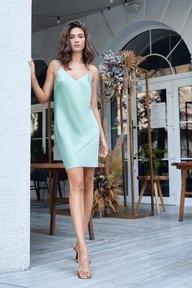 Шелковое платье-комбинация фисташкового цвета Хетти 51305