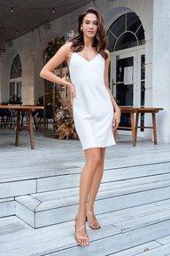 Шелковое платье-комбинация молочного оттенка Никки 51306