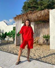 Костюм Лайм красный футболка+шорты 018_289299